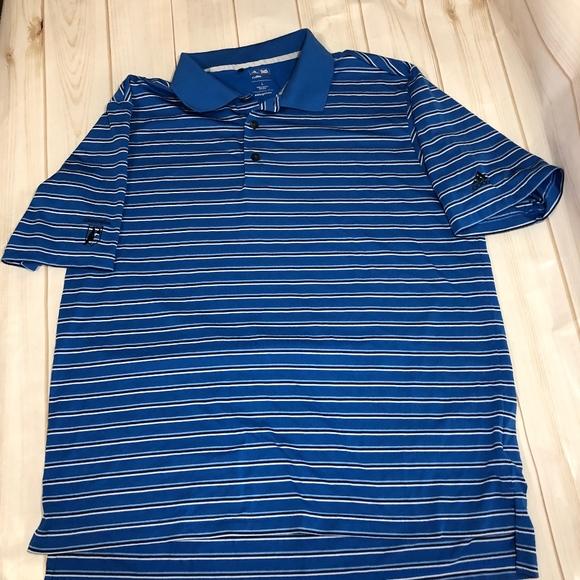 Adidas Golf ClimaCool azul camisetas de rayas camisa de poshmark large EUC